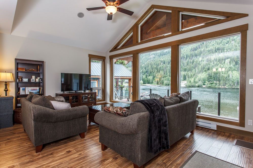 East Barriere Lake Cabin living room.